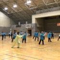 14.太極拳 方拳1・3段 3教室合同チームです。 息は、ぴったりです。